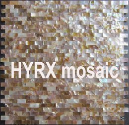 Wholesale Red Wall Tiles - Home Improvement 10X20 Natural shell mosaic Tile Backsplash Freshwater Shell Mother Of Pearl Mosaic Tile Kitchen Bathroom Floor