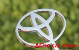 Wholesale Toyota Accessories Free Shipping - Free shipping High quality Luxury Toyota 3D Zinc Alloy movable Hood Front Badge Ornament Emblem Auto accessories