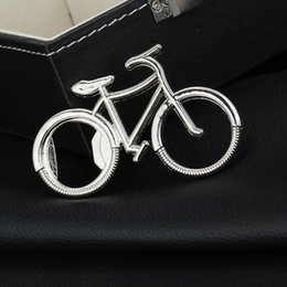 Wholesale Keychain Promotional Gift - Wholesale Fashionable Bicycle Metal Bottle Opener Can opener with Keyring Keychain Promotional Gift Free shipping wen4501