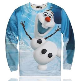 Wholesale Fantasia Blue - Hot Sale 3D fantasia FROZEN costume women men olaf sweatshirt cute cartoon printed sweater vogue outdoors pullover tops