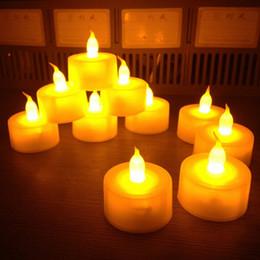 Wholesale Clignotant Sans Flammes Thé Bougies Lumière LED Photophore Pour Mariage Fête D anniversaire De Noël Sécurité Décoration De La Maison WZS06 L023