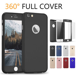 Wholesale thin hard plastic case - For iPhone X Case 360 Degree Protector Case Ultra-thin Full Body Cover with Tempered Glass Protective Rugged Hard PC Cover with OPP Package
