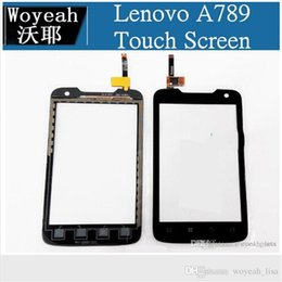 Wholesale Wholesale Lenovo A789 - For Lenovo A789 Touch Screen Digitizer Replacement Repair Part touch panel With Logo 100% Original New Free Shipping