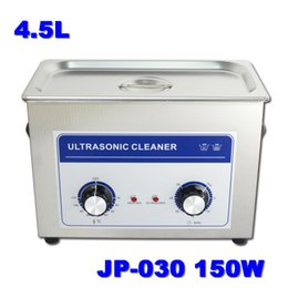 Wholesale Cleaning Supplies Equipment - Supply 4.5L 150W Digital Medical Equipment Metal Stamping Parts Ultrasonic Cleaner JP-030 with 1 Free Basket 110v 220v Available