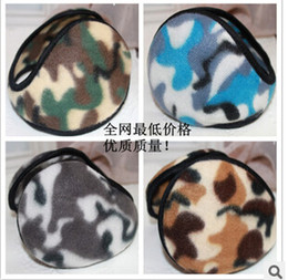 Wholesale Cheap Christmas Hats Wholesale - Cheap fashion earmuffs Mens Womns Wintercamouflage plush ear hats & caps cycling running walking Accessories winter ear muffs
