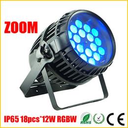 Wholesale Quad Auto - DHL Free 18PCS*12W RGBW 4IN1 Quad LED Par Lights,IP65 DMX512 Stage Light,Zoom Dimming Function