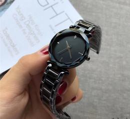 Wholesale ladies waterproof watch blue - Super Women's Stainless Steel Diamonds Wrist Watches Simple Luxury Brand Quartz Watch Waterproof Ladies Dress Watch relogio feminino