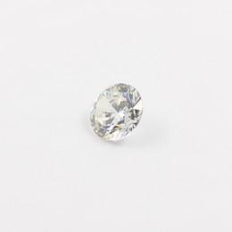 Wholesale Loose Cz - 10pcs lot Free shipping 3mm-7.5mm Cubic zirconia Machine Cut simulated diamond round loose CZ stones