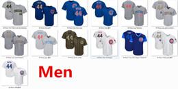 Wholesale Cub Logos - Mens Cubs 44 Anthony Rizzo Baseball Jersey White Blue Gray Grey 2017 Memorial Day Flexbase Blue Gold Tem Logo Green Salute Stars & Stripes