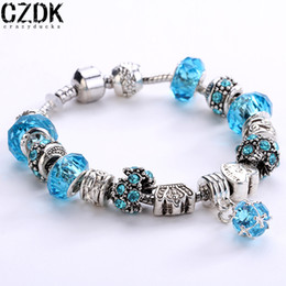 Wholesale Wholesale Glass Rings - 12 colors 925 Silver Field of Daisies Murano Glass&Crystal European Charm Beads Fits European Style Bracelets AA01