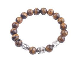 Wholesale Gemstones Stretch Bracelets - 1PCS Fashion Gemstone Beaded Buddha Stretch Bracelet