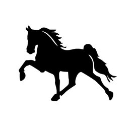 Wholesale Car Stickers Running Horse Vinyl Decal Wall Car Van Lorry Caravan Suv Truck Window Bumper Box Trailer Show Jump Sticker