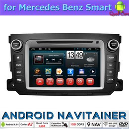 Wholesale Dvd Usb Tv - 2 din Auto Stereo Bluetooth Radio Touch Screen for Mercedes Benz Smart Car Dvd Gps Android System TV USB Wifi 3G