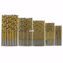 twist drill bits Coupons - 50 pcs lot Titanium Coated HSS High Speed Steel Drill Bit Set Tool 1 1.5 2 2.5 3mm