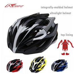 Wholesale Road Bikes New Mens - 2015 New Ultralight Men's MTB Cycling Helmet Integrally-molded Mens Road Bike Helmets Insect Net Women Bicycle Helmet AIDY