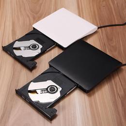 Wholesale Usb Dvd Slim - Portable External Slim USB 3.0 DVD-RW CD-RW Burner Recorder Optical Drive CD DVD ROM Combo Writer for MAC PC Laptop Win 7 8 XP