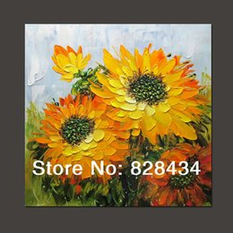 Wholesale High Grade Oil Paints - Free shipping and 100% hand-painted wall art, palette knife, high quality sunflower oil paintings, modern high-grade decoration.