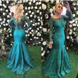 classy plus size dresses Coupons - Classy Lace Mother Of The Bride Dresses With Long Sleeves Beaded Plus Size Wedding Guest Dress Mermaid Bateau Neck Evening Gowns