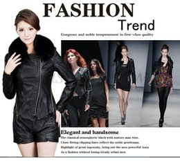 Wholesale Woman Cheap Pu Leather Jacket - Wholesale-Very Cheap Women Faux Leather Jacket PU Leather Short Jacket Motorcycle Coat Plus Size M-XXXL Drop Shipping 50