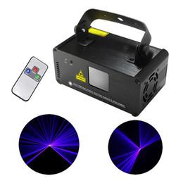 Wholesale Dj Scanner Stage Light - New Mini Portable 8 CH DMX Blue Laser Scanner Effect Stage Lighting DJ Party Club Show LED ProjectorLights DM-B150 450