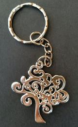 Coches de vida clave online-Vintage Silver Tree Of Life Charm KeyChain para llaves Coche Llavero Bolsa Bolsa Marca Marca Regalo de cumpleaños Joyería 50pcs L200