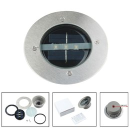 Wholesale Ground Solar Led Lights - Outdoor Solar Power 3 LED Bulbs Light Path Way Solar Lamps Garden Under Ground Decking Yard Buried Lamp