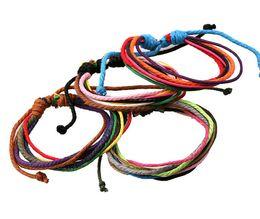 Wholesale New Paracord - New Paracord Arrival Wrap Hemp Braided Rope Cuff Bracelet Bangle Men and Women Charms Bracelets Bangles Punk Men Jewelry