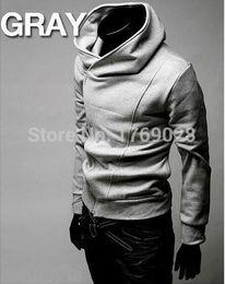 2019 xxl высокий воротник куртки мужчины Wholesale-FREE SHIPPING High Collar Men's Jacket Top  ,Men's Dust Coat Hoodies Clothes M L XL XXL XXXL YF141 дешево xxl высокий воротник куртки мужчины