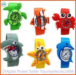 Wholesale Animal Snap Slap Wrist Watches - New Arrival 2014 Hot Models Ocean Animal Series Slap Watch Cute Animal Cartoon Slap Snap Watch Silicone Wrist Watch for Children Gift