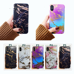 Cromo iphone online-Marble Chrome Case Frosted TPU suave Fashion Defender cubierta para iPhone X Xr Xs max 8 7 6 6 s más casos a prueba de golpes