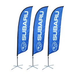 Wholesale Promotional Flags - 3.5m Portable Outdoor Promotional Feather Flag with Single or Double Fabric Printing Banner Durable Steel Cross Base Portable Carry Bag