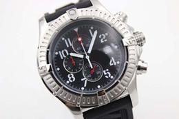 2019 спортивные наручные часы белые Горячая распродажа новый серебряный циферблат черный резиновый морской волк хронограф пояса мужские белые часы из нержавеющей указателя мужские спортивные наручные часы часы дешево спортивные наручные часы белые
