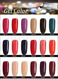 Wholesale Gel Nails For Sale - 2015 Hot sale Gelish Nail Polish Soak Off Nail Gel For Salon UV Gel 233Colors 15ml supply,free shipping