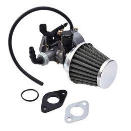 Wholesale Air Filter For Atv - 19mm PZ19 Hand Choke Carburetor Carb Intake Pipe Air Filter Fuel Filter 50cc 70cc 90cc 110cc 125cc For Taotao Sunl Quad ATV