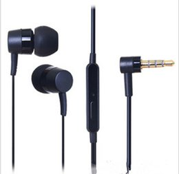 Wholesale Wholesale Earbuds Free Shipping - HOT SONY MH-750 Earphone Earbuds headsets with MIC , can talk and free extra ear tips caps free shipping