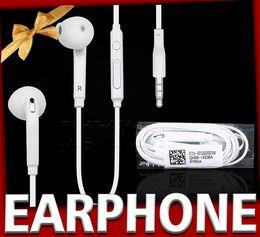 Wholesale Handsfree Wired Headset - s6 s7 edge In-Ear Handsfree Earphones Headset with MIC Volume Control headphone Earphone for Samsung Galaxy S4 S5 S7 S6 Edge hbs headphones