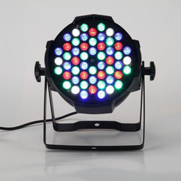 Wholesale Master Change - Free shipping 54LED DMX512 Sound Activated Auto Running 8 Channels RGBW Color Changing PAR Wall Wash Light Stage Effect Lamp