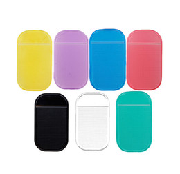 Wholesale Car Holder For Iphone 4s - Wholesale Silicone New Car Dashboard Strong Sticky Pad Mobile Phone GPS anti-slip Mat Holder For iPhone 4S 5 5S 6 6plus HTC Samsung