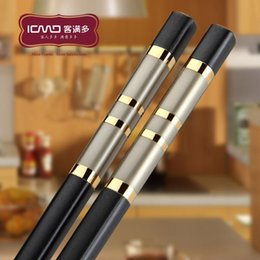 Wholesale Cheap Household Gifts - Wholesale-Jancy chopsticks alloy Cheap Hotels household gifts tableware wholesale free shipping