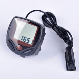 Wholesale Computers Displays - Outdoor Cycling Bicycle Computer Leisure 14-Functions Waterproof Bike Cycling Odometer Speedometer With LCD Display Bikes Computers