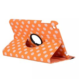 Wholesale Apple Ipad Covers Polka Dot - 30pcs DHL Luxury Print Polka Dot 360 Rotation PU Leather case for Apple iPad mini4 Tablet Smart cover flip Cases with stand