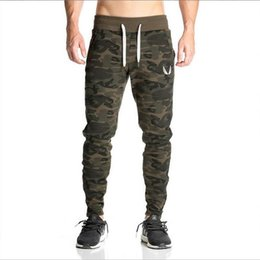 Wholesale Gasp Pants - Wholesale- 2016 NEW AS Gyms pants Men's gasp workout bodybuilding clothing casual camouflage sweatpants joggers pants skinny trousers
