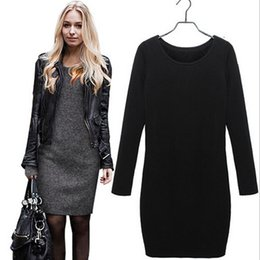 Wholesale Plus Size European Winter Dresses - 2015 Fashion European Style Winter Dress Long Sleeve O neck Women Autumn Dresses Plus Size Velvet Casual Dress Women