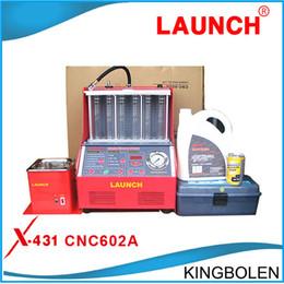 Inglês limpo on-line-Preço de fábrica Promoção !! 100% Lançamento Origninal CNC602A CNC-602A Injector Cleaner e Testador Com Painel Inglês DHL Frete Grátis