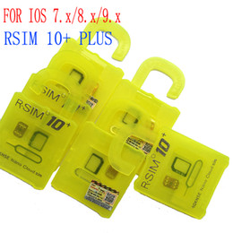 Wholesale Sb Au - Newest Rsim10+ R-SIM 10+ R SIM 10plus Unlock Card for iphone 6 6s plus 5s iOS9.X-7.X SPRINT SB AU direct use