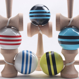 Wholesale Japanese Traditional Game - Kendama Ball Big size 18.5*6cm Japanese Traditional Wood Kendama Ball Game Toy Education Gift Wholesale Kendama Ball Wood Toys C001