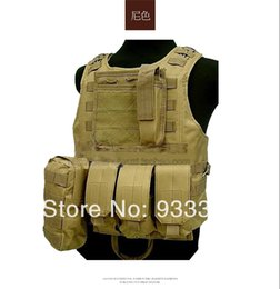 Wholesale Military Tactical Assault Vest - Wholesale-Airsoft Paintball Tactical Vest Combat Assault Vest Tactical Military Jacket