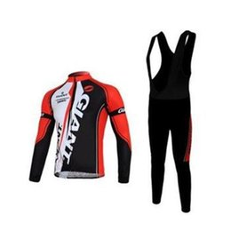 Wholesale Thermal Shorts Cycling - 2014 Giant Winter Thermal Cycling Jersey + Bib Shorts, bicycle wear