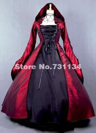 Wholesale Vintage Carnival - 2015 Elegant Gothic Medieval Renaissance Queen Costume Vintage Renaissance Dresses Southern Belle Princess Ball Gowns For Women