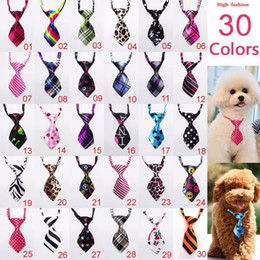 Wholesale New Dog Supplies - 60pc lot Factory Sale New Colorful Handmade Adjustable Pet Dog Ties Pet Bow Ties Cat Neck ties Dog Grooming Supplies PL02